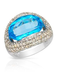 Topaz and diamonds - lovely combination #luxury #ring