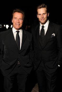 efb7040b3b8ad Arnold Schwarzenegger and Tom Brady Tom Ford Suit