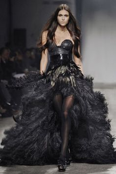 Kristian Aadnevik  @Melissa Squires Squires Squires Hammons I see your black lace number and raise you this black feathered hotness!