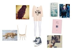 """Day with louis and our cats"" by mss-tomlinson ❤ liked on Polyvore featuring moda, Converse, rag & bone, H&M, Grayson, Datura, women's clothing, women, female y woman"