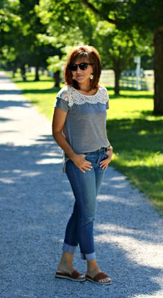 22 Days of Summer Fashion-Weekend Casual Outfit | Cyndi Spivey | Bloglovin'