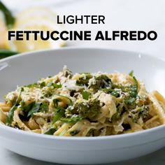 Lighter Fettuccine Alfredo