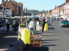 Traffic bustling through a busy Marlborough market