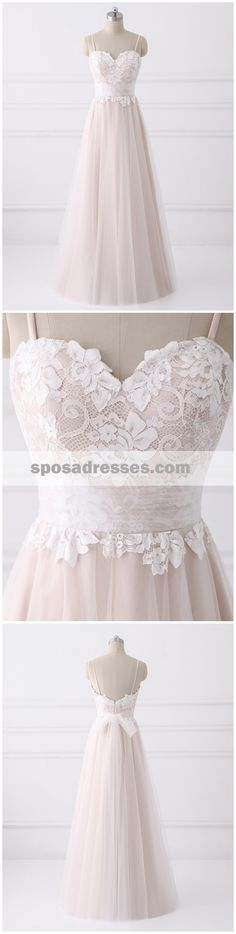 Spaghetti Straps Sweetheart A-line Cheap Wedding Dresses Online