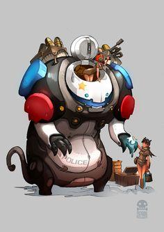Pig warriors police cat by *RobinKeijzer on deviantART