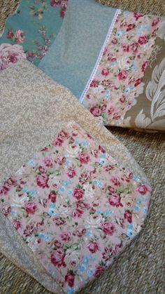 sac vert et rose doublé tissus coton feuilles avec poche roses