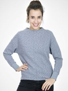 SFVERA Partiot Jumper in Blue Melange by Selected Femme