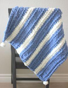 Bernat Alize EZ Garter Stitch Baby Blanket – Repeat Crafter Me – Crochet Blanket İdeas. Bernat Baby Blanket, Blanket Yarn, Knitted Baby Blankets, Baby Blanket Crochet, Crochet Baby, Afghan Crochet, Tunisian Crochet, Chunky Crochet, Hat Crochet