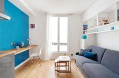 Antes y después, en un apartamento de 15 metros! | Decoración
