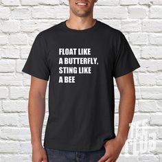 Muhammad Ali Tshirt  float like a butterfly  ali quote by TeeClub