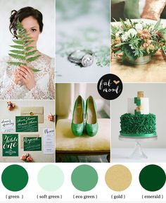 Emerald and gold wedding | http://fabmood.com/emerald-and-gold-wedding/