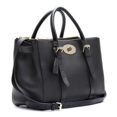Bayswater Double Zip Leather Tote ∫ Mulberry ☆  mytheresa.com  It's like the Prada double zip tote, only Mulberry...and I LOVE it!