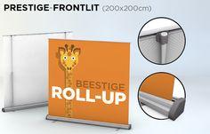 Roll-up 200x200 cm - verkrijgbaar  bij drukkerij ZwartOpWit