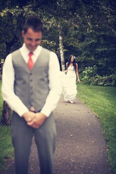 Moments before the couple's first look! Photo by Ashley B.