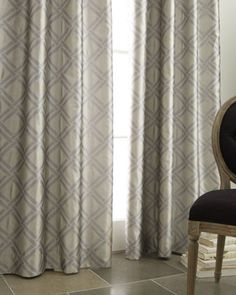 "LOVE! horchow.com: ""Grid"" Curtains-champagne/gold  $75.00 each for 96""L or $85.00 for 108""L"
