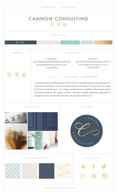 Sneak Peak    Cannon Consulting - Geometric and feminine custom branding package with glyph icons   by Brit Pinesich #branding #logodesign