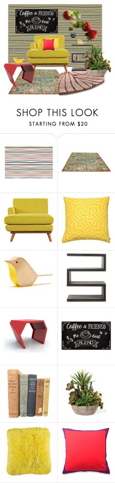 """""""Fruit Color Furnitures"""" by indie-nesya ❤ liked on Polyvore featuring interior, interiors, interior design, home, home decor, interior decorating, Nina Kullberg, Andrew Martin, Nourison and Vintage Collection"""