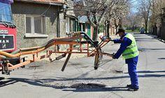 """В Сливен се прави ремонт на уличната мрежа по технологията """"Печматик"""""""