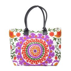 0e65fb8248 Tote Shoulder Bag Traditional Indian Cotton Suzani Embroidery Woman Handbag   Handmade  totesShopper
