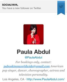STOP THE WORLD! IM SOOO HONORED! @paulaabdul Thank you #Socialyaya  #dance #music #hiphop #singers #entertainmentnews   IF YOU KNOW MY HISTORY - THEN YOU KNOW HOW I FEEL RIGHT NOW. DANCE IS AND WILL ALWAYS BE MY FIRST LOVE - AND OF COURSE THIS LADY WAS AN INSPIRATION. LOVE YOU #PAULAABDUL   #sports #sportsnews #rappers #producers #rap #rnb #gospel #blogger #DC #thevoice #Hollywood #TMZ #celebritynews #artists #rockmusic #popmusic #LA #vegas #countrymusic THE #lakergirl #lakers #kobe by…