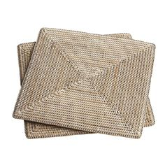 Square Rattan Placemats