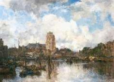 Mastenbroek J.H. van, Gezicht op Dordrecht, olie op doek 122,7 x 170,7 cm.