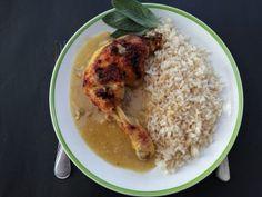 Finom csirkecomb mártással Grains, Rice, Food, Essen, Meals, Seeds, Yemek, Laughter, Jim Rice