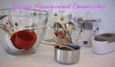 Since our TKW Family has gone global, not everyone uses Tablespoons or pints, grams or liters. While my recipes are written predominately in US measurements I want to do my best to help all of you … Recipe Conversions, Measurement Conversions, Metric Conversion, Recipe Measurements, Kitchen Measurements, My Recipes, Crockpot Recipes, Cooking Recipes, Favorite Recipes