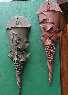 Wall pockets by woodlandsgardenpottery