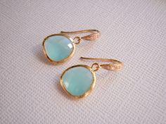Aqua and gold. #earings