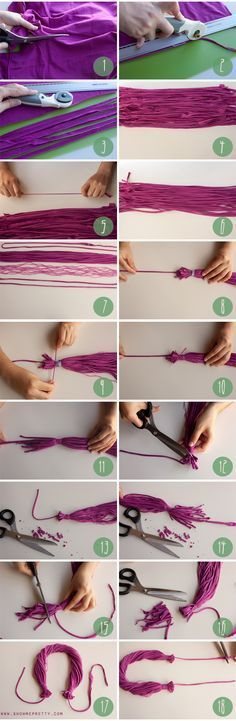 How to make a necklace out of an old t-shirt (image 3/3) #diy #accessories #fashion #necklace #recycling
