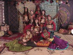 Awalim Tribal Bellydance photo shoot by Lisa Wylie, 2001 maybe?
