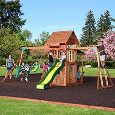 Saratoga Cedar Swing Set: Sam's Club $749