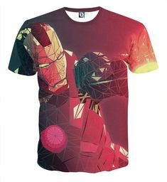 04ab6fcd9a7a Marvel Comics The Fierce Iron Man Full Print T-shirt