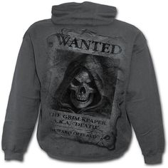 Wanted - grå hettegenser til herre The Grim, Charcoal, Graphic Sweatshirt, Mens Fashion, Sweatshirts, Fashion Hoodies, Sweaters, Hoody, Spiral