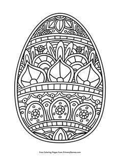 Free printable Easter Coloring Pages eBook for use in your classroom or home from PrimaryGames. Print and color this Easter Egg coloring page. Easter Egg Coloring Pages, Coloring Pages For Kids, Coloring Books, Coloring Sheets, Easter Eggs Kids, Easter Arts And Crafts, Easter Religious, Easter Colors, Art Plastique