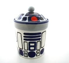 Star Wars R Inspired Funny Cookie Jar for Sci Fi Fan by LennyMud