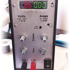 A semi-home-made variable power supply