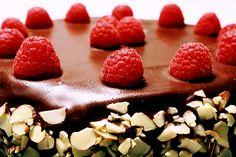 cake, chocolate, food, raspberry