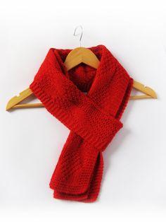 Men's Scarf, Winter Warm Scarf, Red Man Scarf, Men Knit Scarf, Man Accessories, Red Knit Scarf, Gift for fim, Gift for husband, brother gift by BoryanacrochetBG on Etsy