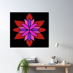 """Lotus Star Design"" Poster by Pultzar   Redbubble"