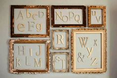 Unfinished Wooden Alphabet Set - Wooden Letter- Alphabet Wall - DIY- ABC Wall- Room decor- Gift- Baby Shower. $60.00, via Etsy.