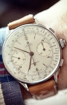 Pretty large for a vintage watch. Would be a great wear for a patio day in the city.
