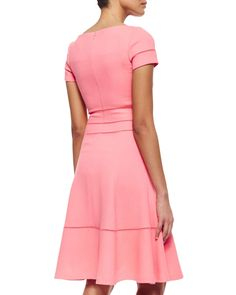 Hemstitched Fit-And-Flare Dress