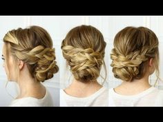 How to: Headband Updo and Fishtail Braids - YouTube
