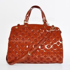 d7653c0bac9 Louis Vuitton Calfskin Leather Monogram Vernis Rayures Brea GM - Coffee  M91616  239.00