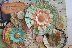 Why didn't I think of that?  Embossing the paper for fringe flowers!  From the Fancy Pants blog.