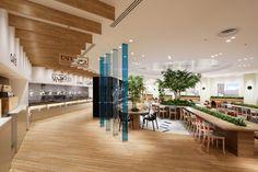 YEBISU GARDEN CAFE (2) Corporate Interior Design, Corporate Interiors, Office Interiors, Hall Design, Shop Front Design, Japan Design, Public Library Design, Cafe Concept, Office Lounge
