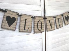 Love Banner - sheet music background - wedding banner, wedding decor. wedding photo, wedding, engagement photo. $14.00, via Etsy.