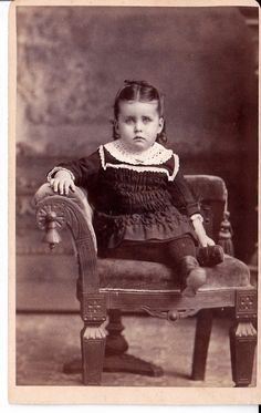Victorian Carte de Visite of Girl in by NorthCountryVintage, $4.95